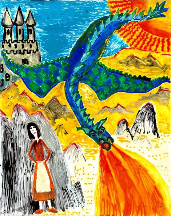 The Dragon Print by Sushila Burgess