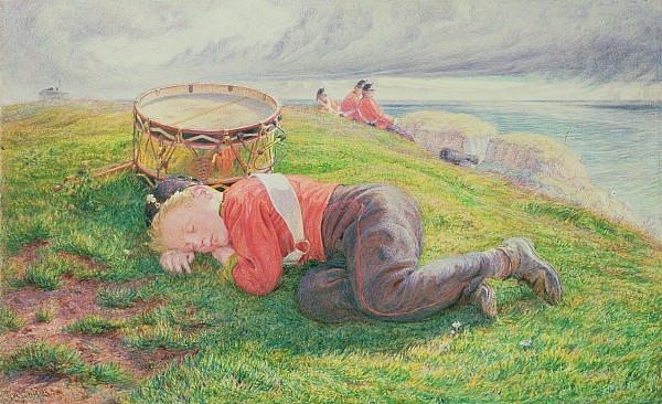 The Drummer Boy's Dream Print by Frederic James Shields