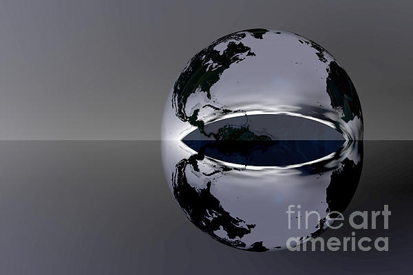 The Earth Reflection Print by Odon Czintos