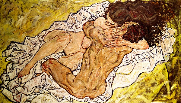 The Embrace Print by Egon Schiele
