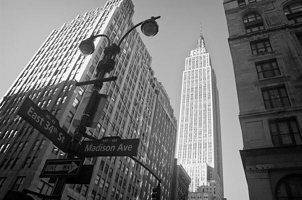 The Empire State Building In New York City Print by Ilker Goksen