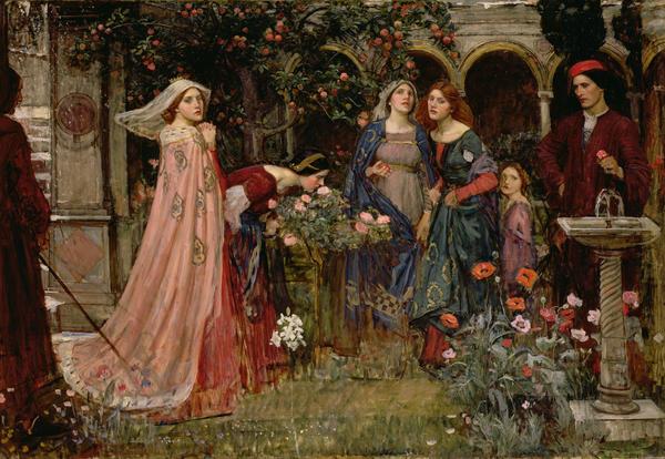 The Enchanted Garden Print by John William Waterhouse