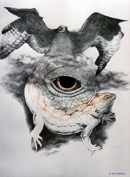 The Eye Of Power Print by Kyra Belan