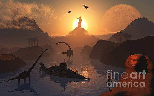 The Fabled City Of Atlantis Set Print by Mark Stevenson