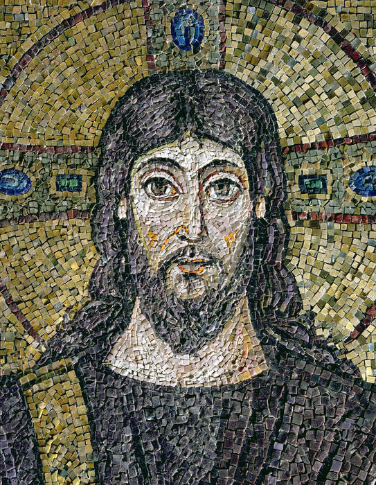 The Face Of Christ Print by Byzantine School
