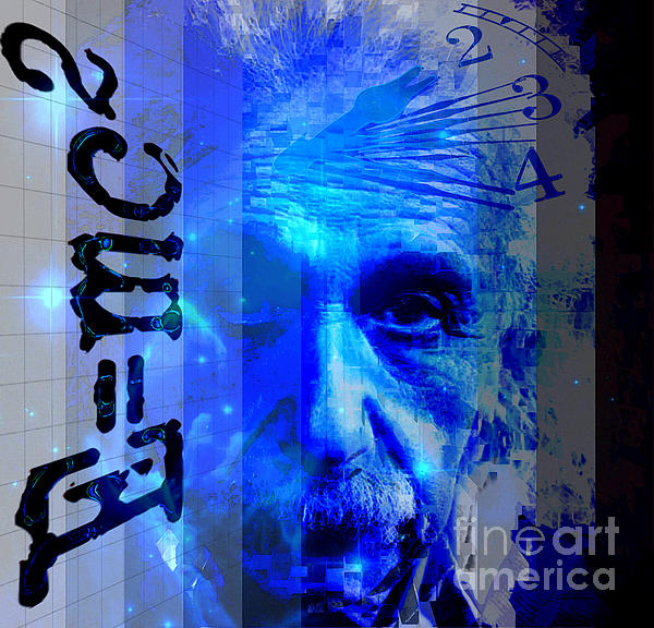 The Face Of Time Print by Larry Guterson