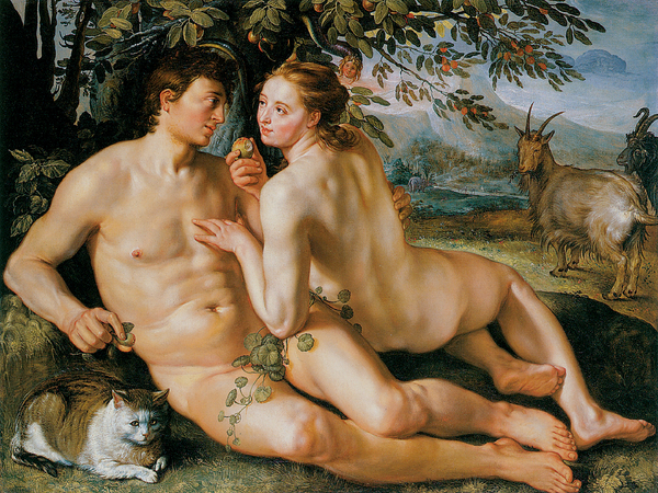 The Fall Of Man Print by Hendrik Goldzius