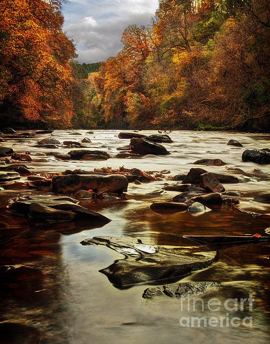 The Fall On The River Avon  Print by John Farnan