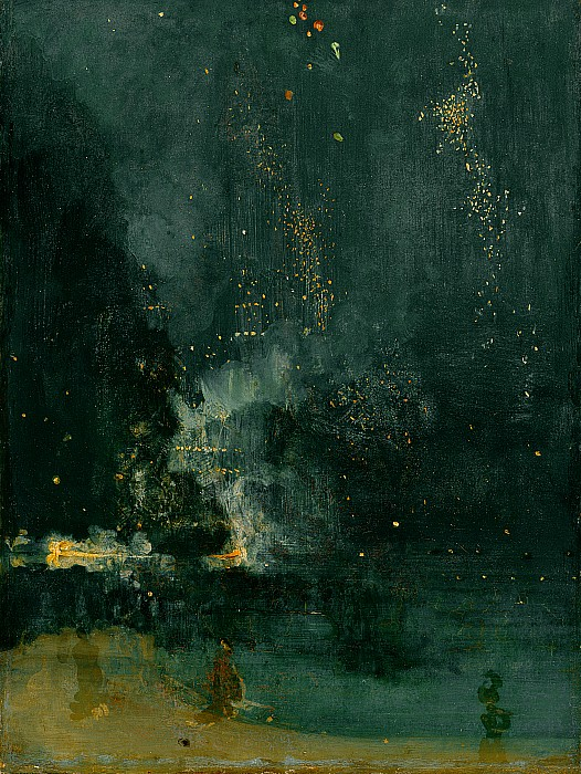 The Falling Rocket Print by James Abbott Whistler