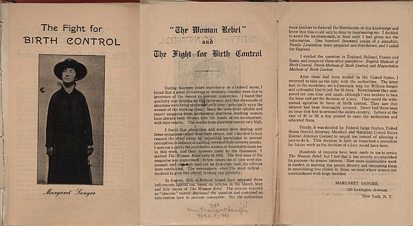 The Fight For Birth Control, A Pamphlet Print by Everett