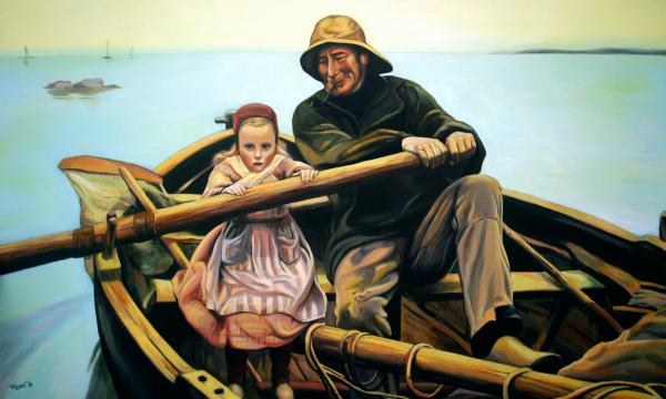 The Fisherman Painting  - The Fisherman Fine Art Print
