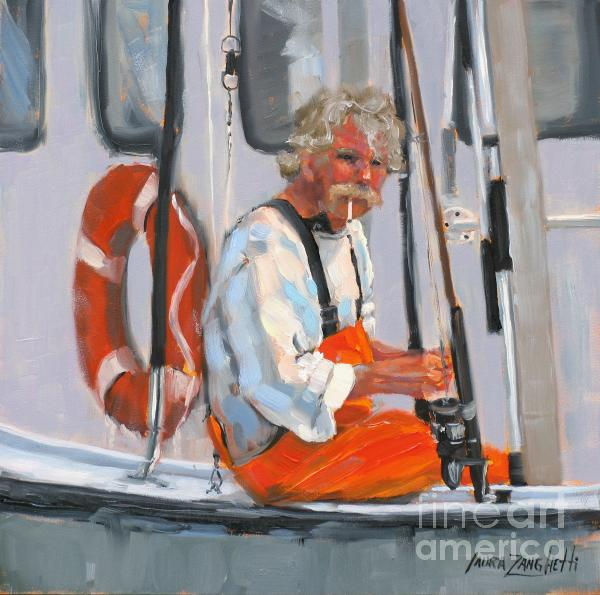The Fisherman Print by Laura Lee Zanghetti