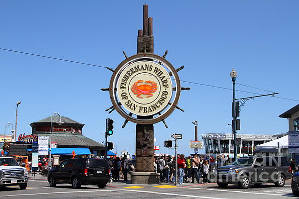 The Fishermans Wharf Sign . San Francisco California . 7d14224 Print by Wingsdomain Art and Photography
