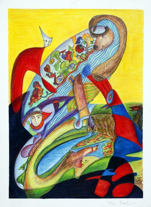 The Fool Print by Monika Kretschmar