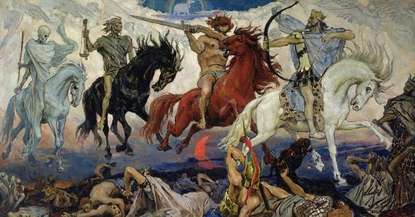 The Four Horsemen Of The Apocalypse Print by Victor Mikhailovich Vasnetsov