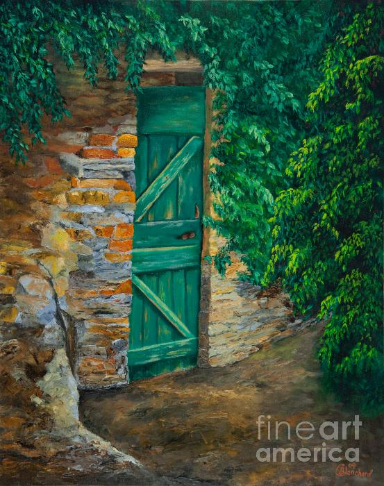 Charlotte Blanchard - The Garden Gate In Cinque Terre