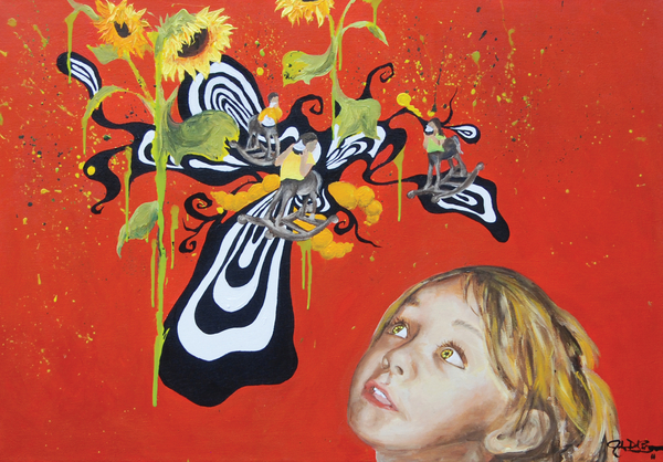 The Girl With Kaleidoscope Eyes Print by Jacqueline DelBrocco