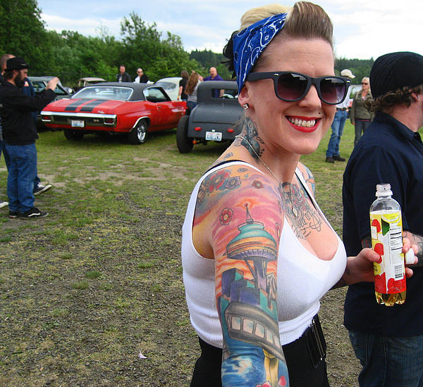 Kym Backland - The Girl With The Space Needle Tattoo