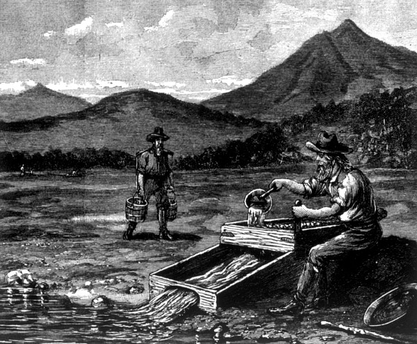 The Gold Rush, Prospector Using Print by Everett