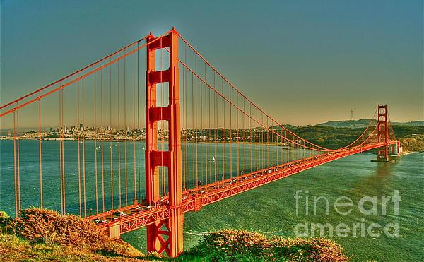 The Golden Gate Bridge Summer Print by Alberta Brown Buller