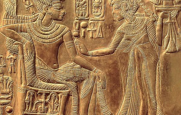 The Golden Shrine Of Tutankhamun Print by Egyptian Dynasty