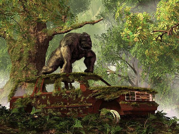 The Gorilla's Suv Print by Daniel Eskridge