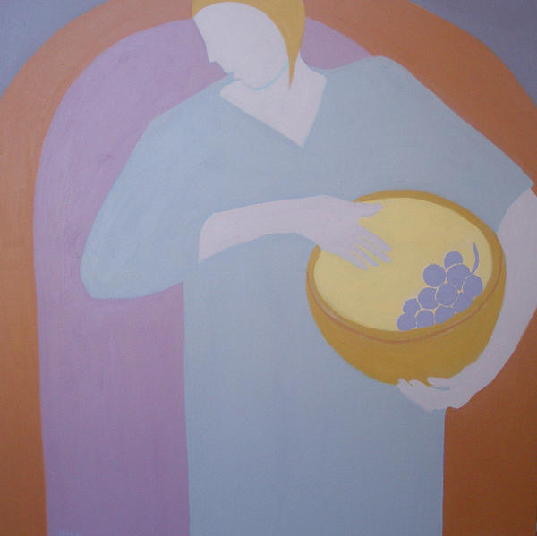 The Grape Bearer Painting  - The Grape Bearer Fine Art Print