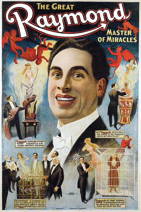 The Great Raymond Master Of Miracles Print by Unknown