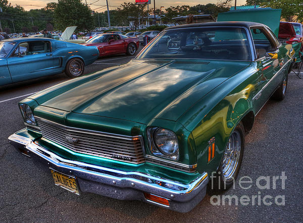 The Green Machine - Chevrolet Chevelle  Print by Lee Dos Santos