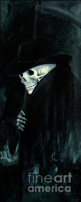 The Grim Reaper Print by Barbara Marcus