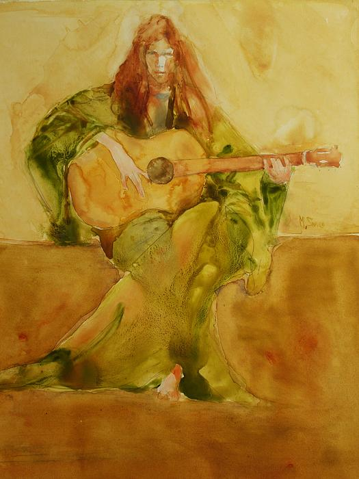 The Guitar Recital Painting