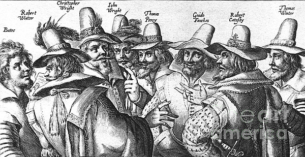 The Gunpowder Rebellion, 1605 Print by Photo Researchers