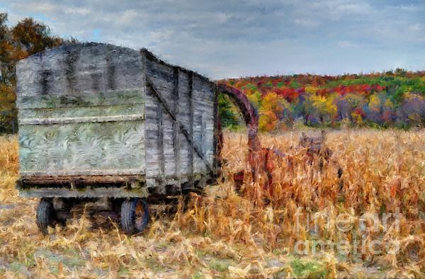 The Harvester Print by Michael Garyet