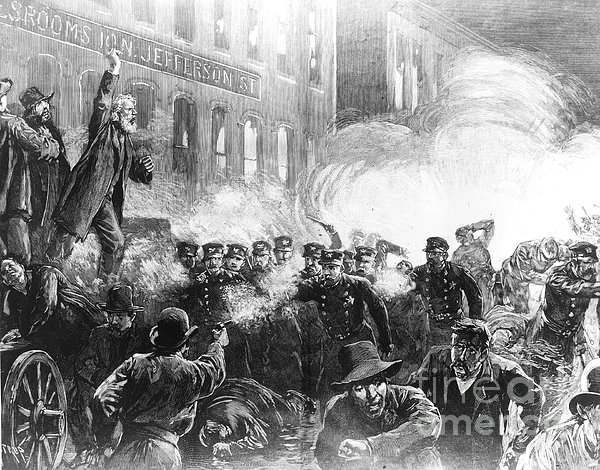 an overview of the haymarket square riot in chicago The name refers to a designated meeting place, a square where an open market   at the des plaines police station a half block away in anticipation of a riot.