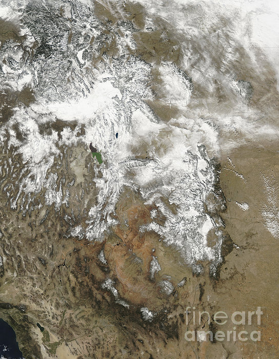 The High Peaks Of The Rocky Mountains Print by Stocktrek Images