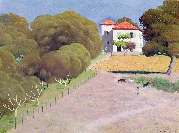 The House With The Red Roof Print by Felix Edouard Vallotton