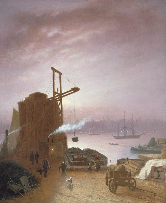 The Hudson River From Hoboken Print by Robert Walter Weir