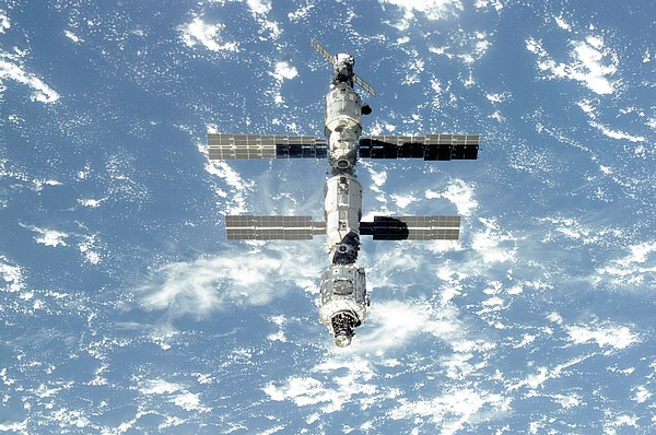 The International Space Station Is Seen Print by Everett