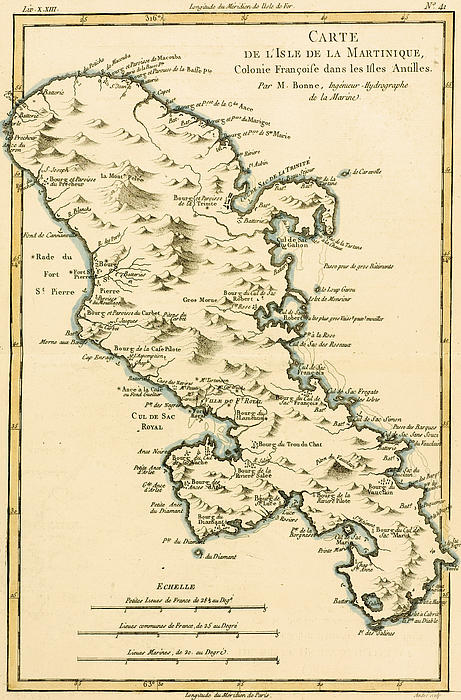 The Island Of Martinique Print by Guillaume Raynal