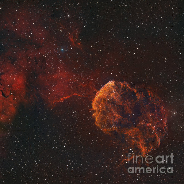 The Jellyfish Nebula Print by Rolf Geissinger