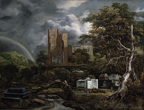The Jewish Cemetery Print by Jacob Isaaksz Ruisdael