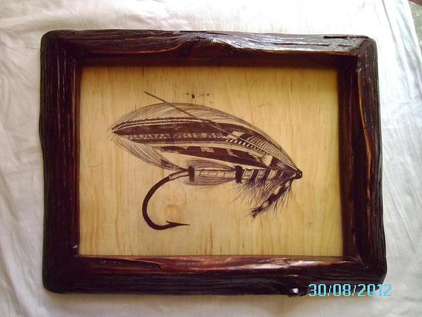 The Jock Scott Salmon Fly Print by Peter Kaniaru