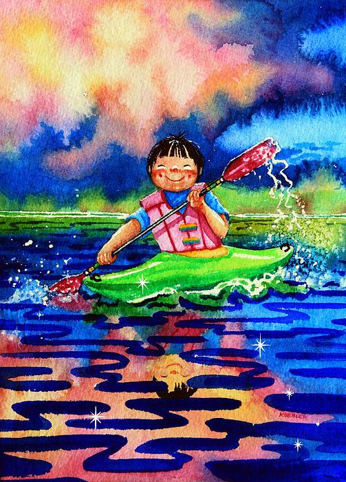 The Kayak Racer 11 Print by Hanne Lore Koehler