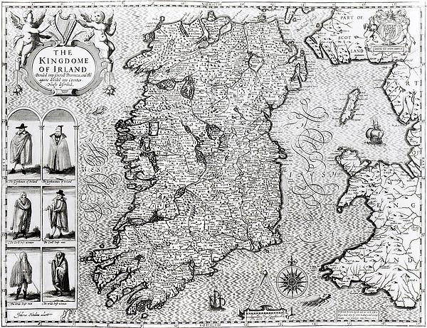 The Kingdom Of Ireland Print by Jodocus Hondius