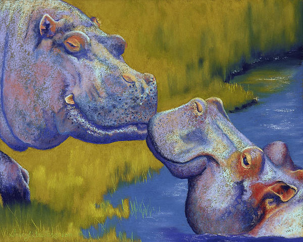 Tracy L Teeter - The Kiss - Hippos
