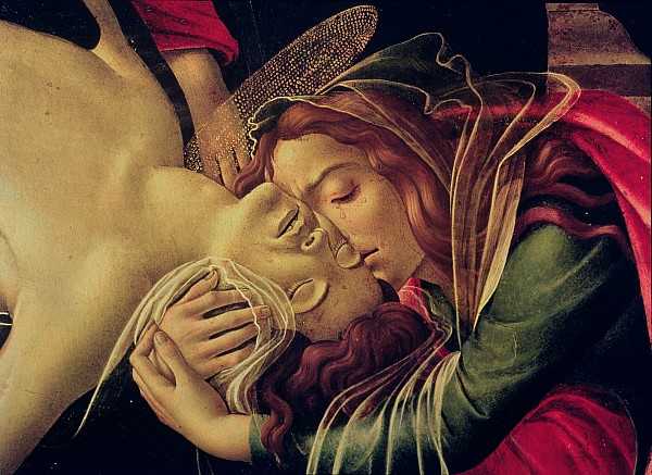 The Lamentation Of Christ Print by Sandro Botticelli