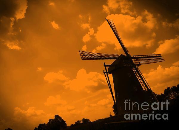 The Land Of Orange Print by Carol Groenen
