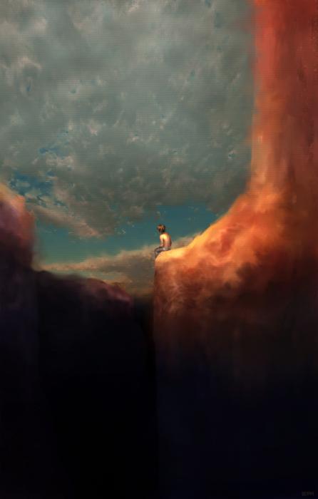 The Landing Print by Ethan Harris