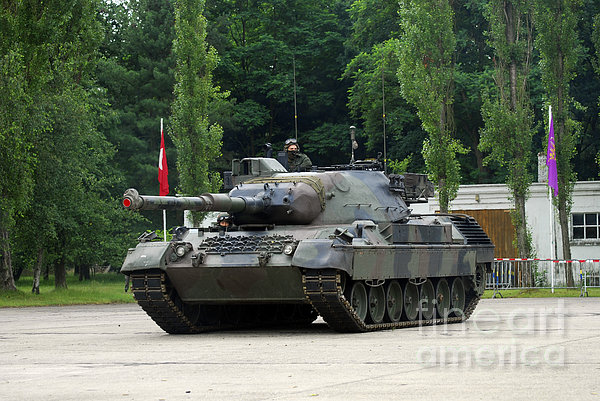 The Leopard 1a5 Mbt Of The Belgian Army Print by Luc De Jaeger