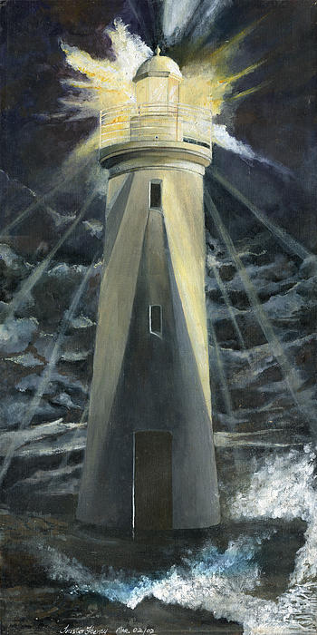 The Lighthouse Print by Trister Hosang